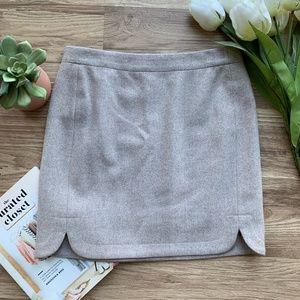 J. Crew Factory Shirttail Mini Wool Skirt